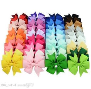 40 Renkler Saç Yaylar Saç Pin Çocuk Kız Çocuk Aksesuarları Için Bebek Hairbows Kız Saç Yaylar Klipler Çiçek Klip