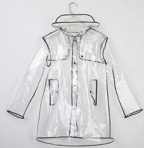La pluie transparente Manteau EVA imperméable piste Voyage Raincoat extérieur Poncho avec capuche Manteaux de pluie Mesdames Rainwear Dropshipping