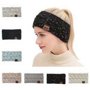 Las mujeres de punto más caliente Cinta de cabeza colorido de la señora protección auditiva del invierno del ganchillo del pelo de la venda al aire libre fiesta de Navidad TTA1837 regalo