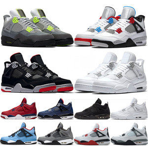 Nike Air Jordan 4 Retro 2019 gezüchtet 4 4s Männer Basketball-Schuhe Tattoo Singles Day Raptors Pure Money Abgabe Hot Punch Mens Designer Trainer Sport Sneaker Größe 41-47