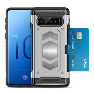 아이폰은 11 프로 X가 최대 XR 8 플러스 7 삼성 A20 A30 A50 S10E S10 5G 카드 슬롯 디자이너 전화의 경우 자기 차량 탑재 듀얼 커버 수호자
