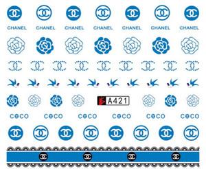 Prego Água da arte do prego de transferência Adesivos Logo impressão Para Meninas 18 Styles