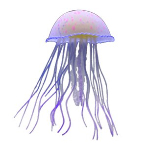 Aquarium Fish Tank Landscaping Decor Glowing Effect Artificial Fish Jellyfish Sea Anemone Plants Water Ornament