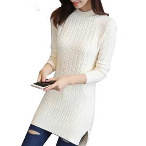 Progettista delle donne Maglioni Donne Designer Maglione medio lungo maglione Primavera marsupio che basa parti superiori delle signore di colore Split Fork Slim donne