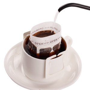 50Pcs Pack Drip Coffee Filter Bag Outdoor Portable Hanging Empty Filters Paper Bag Office Travel Brew Coffee and Tea Tools Wholesale