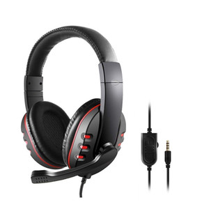 Casque de jeu, 3,5 mm Wired Over-Head Headse pour PS4 Noise Cancelling Casque Audio Microphone, Contrôle de volume, mémoire souple Earmuffs