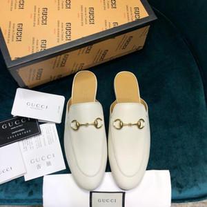 Le parti de haut de gamme des femmes fashionDesigner de luxe conduite chaussures de sport sans attacher les lacets mocassins demi pantoufles plate-forme chaussures pour femmes