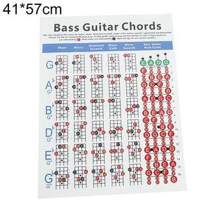 4 Cordas Electric Bass Guitar Chord Chart instrumento de música Practice Acessórios