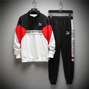 ww9301bn25 여름 가을 남성 스웨터 스포츠웨어 바지 정장 코트 스탠드 칼라 패션 운동복 운동복 L-5XL