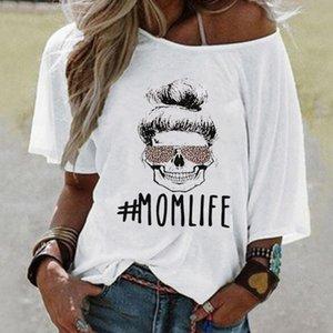Anne Yaşam Baskı Kadınlar tişört Leopar Gözlük Yaz Kadın Tişört Komik Harajuku Grafik Tee Kafatası Gömlek Bayanlar Anneler Günü En