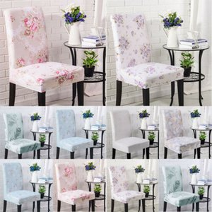 Fashion New 2019 Floral Chair Cover Dining Room Flat Arched Party Wedding Banquet Stretch Fit Chair Cover