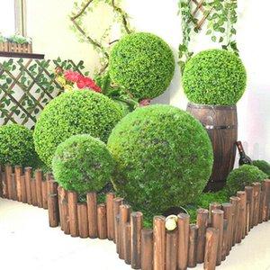 Simulazione Topiary Hanging impianto ghirlanda Green Grass sfera festa di compleanno decorazioni di nozze fidanzamento anniversario
