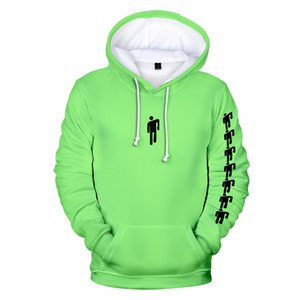 New Eilish Billie Harajuku NEON GREEN Hooded sweatshirt Men Women spring Casual Hip hop Harajuku Hooded hot sale Clothes Kids