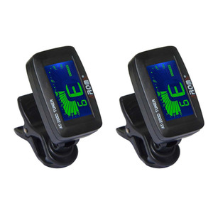 NAOMI 2PCS Tuner AT200D Chromatic Guitar Bass Violin Ukulele 3 Colors Backlight Simple One Button Operation