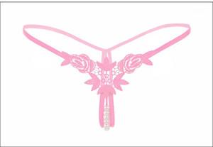 اللون السيدات G سلسلة منظور نساء سراويل ملابس جديد زهري مطبوعة المرأة جنسي كاندي ملابس داخلية