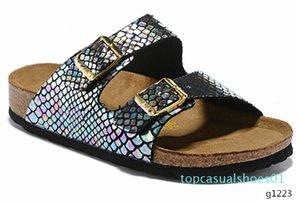 805 Arizona Mayari Gizeh street summer Men Women pink flats sandals Cork slippers unisex Sandy beah casual shoes print mixed size 34-45 T01