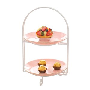 Ceramic Multi-Tier Cake Fruit Plate Tray Stand Holder Centre Handle Fittings European Fruit Sweet Plate