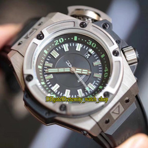 Versión superior 48mm Caso de titanio 731 Green Dial 1400 Mecánico automático Reloj de hombre Sapphire Relojes deportivos de goma Eternity Watch Shop 1190
