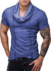 Kısa Katı Renk Yaz Homme Giyim Moda Stil Gündelik Giyim Erkek Spor Desinger Tshirts Mürettebat Boyun