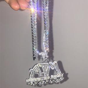Hip Hop ATM bağımlısı para elmas kombinasyonu kabarcık mektup Kolye Kolye mikro Kübik Zirkonya Altın renk bakır Kolye Kolye