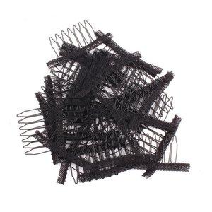 Altı Diş Mesh Çelik Pençe Bahar Tarak Mesh Cap Clip için Peruk Aksesuarları Dantel Peruk