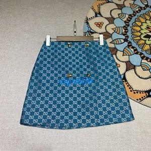 high end женщины девушки мини-юбка на всем протяжении монограмма письмо Жаккардовая юбка сексуальная a-line bodycon короткое платье 2020 мода Женщины короткая юбка