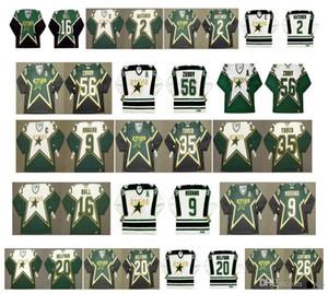 Vintage Dallas Yıldız Jersey 56 Sergei Zubov 35 Marty Turco 9 Mike Modano 16 Brett Hull 2 Derian Hatcher 20 Ed Belfour Lehtinen Retro Hokey