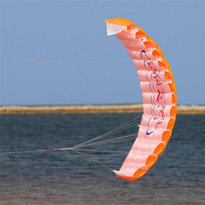1.4m Kitesurfing Sports Power Dual Line Stunt Parafoil Parachute Rainbow Playing Flying Tools Beach Kite Outdoor Toy