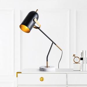 Moderno, Metallo, Marmo Desk Lamp di studio del lavoro del LED Soggiorno Camera da letto tavolo luminoso Apparecchio di illuminazione TA113