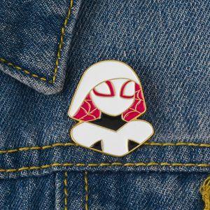 Marvel Película Figura Pin Esmalte de dibujos animados Broche Mujer Araña Solapa Insignia Alcanza tu héroe Sueño Joyería Marvel Fans Bienestar