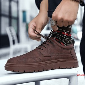 Cheap Sale Mens Casual Shoes Triple Black Grey Dark Red Leather Platform Mens Designer Shoes Women Sports Sneakers Size 39-44 Made in China