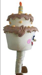 2019 Sıcak satış Özel Doğum Günü Pastası maskot kostüm logo Yetişkin Boyut fantezi karnaval kostüm ücretsiz nakliye eklemek