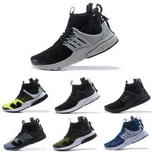 Marca nova sigla Presto mediana Designer Shoes Camouflage Graffiti Homens Mulheres Running Shoes Racer Rosa Cinza frio Dardos Sneakers Tamanho 36-45