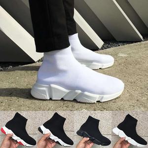 Moda Paris erkekler Hız Eğitmen Çorap Ayakkabı 2020 Yeni En Üçlü Siyah Beyaz Kırmızı Oreo Stretch-Örme mens stilist ayakkabı spor ayakkabısı womens