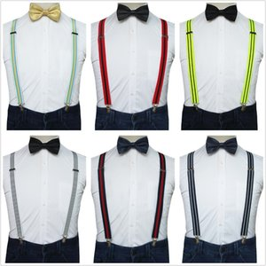 JEMYGINS originale di alta qualità in mano banda della bretella Plain Papillon Set Per yonth uomini di partito Weding vestito