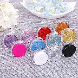 2880PCS / lot 3G-Platz Cremetiegel durchsichtiger Kunststoff Make-up Sub-Abfüllung, leere kosmetische Behälter, Kleine Proben Kanister Maske