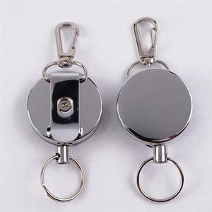 Neue bewegliche Schlüsselkette Recoil Sporty Retractable Alarm Schlüsselring Resilience Steel Wire Rope Elastic Keychain verlorene Anti Yoyo Skipass-ID-Karten