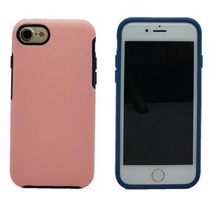 Роскошный симметрия противоударный чехол для iPhone 8 7 Plus 7 6 6 S Plus прочный гибридный броня мобильный телефон Shell обложка робот броня Case
