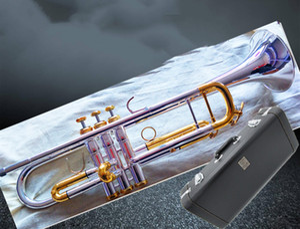 Bach 197GS-72 trompeta auténtica doble de plata plateado bemol profesionales trompeta instrumentos musicales superiores de latón Bugle Bb Trumpete GRATIS