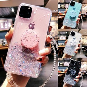 Bling Glitter Case for IPhone 11 Pro Max 11 Pro Slim Case with Stand Holder Phone Cases Socket