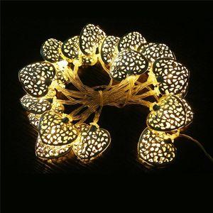 DE Stock LED string lights for kids bedroom warm white 2M 20leds battery powered heart shape fairy string light