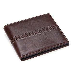 Твердые мужские кожаные кошельки деловые мужчины тонкий короткий кошелек роскошный дизайн 2 раза денежный мешок монета карман держатель кредитной карты мужской PU