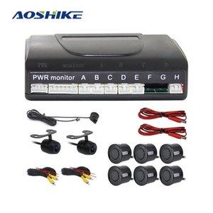 AOSHIKE 12v Car Parking Sensor Kit с парктроником 6 датчиков обратный 2 Dash Cam радар монитор интеллектуальная резервная система детектора