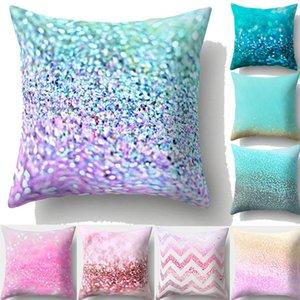 Многоцветная наволочка из персиковой кожи Rainbow Color диван Талия Throw Наволочка Home Decor 45x45cm Красочные Чехлы для подушки