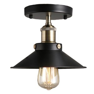 Retro ceiling lamp Led ceiling lamp attic iron cage device home living room lighting