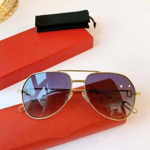 Hot Sale Brand Design Sunglasses Vintage Pilot Brand Sun Glasses Band UV400 Men Women Luxury Ben Metal Frame glass Lens CT0110S with box