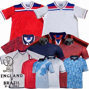 Retro clássico 1980 1981 1982 1989 1990 1992 1994 1995 1998 2002 Inglaterra de Futebol camisa de futebol BECKHAM GASCOIGNE OWEN GERRARD Retro