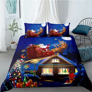 Bedding Set Christmas Duvet Cover With Pillowcases Single Twin Double Full Queen King Size