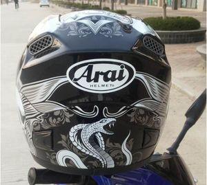 Arai rosto cheio capacete da motocicleta de corrida com óculos único ponto capacete da motocicleta capacete de segurança off-road