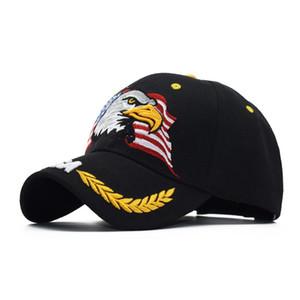 2020 neueste Kappe beliebte Tarnung American Eagle Kopf gestickt Baseballmütze